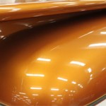Orange Copper Candy Pearls ® ® on a hood.