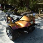 Chameleon Pearls 4739OR. Orange Gold Red sprayed on a Trike.