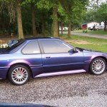 This Honda was painted using our Blue Purple flip paint Chameleon Pearls  pigment.