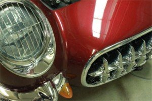 Mauve Rose red Corvette In our Candy Pearls ®. Looks great on any car or anything else.