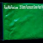 25 gram bag of green-fluorescent-paint-pigment