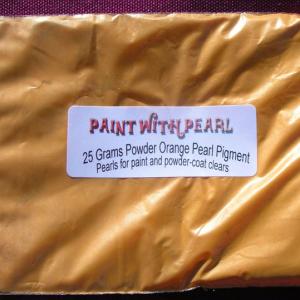25 Gram Bag of Bright Orange Candy Pearls ®