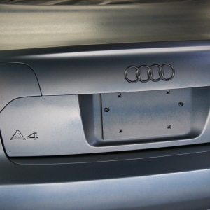 Pewter Titanium Candy Pearls ® being plasti dipped on an Audi