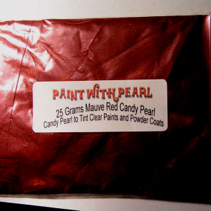 25 Gram Bag Mauve Rose Red Candy Pearls ® ®.