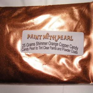 25 Gram Bag of Shimmer Orange Copper Candy