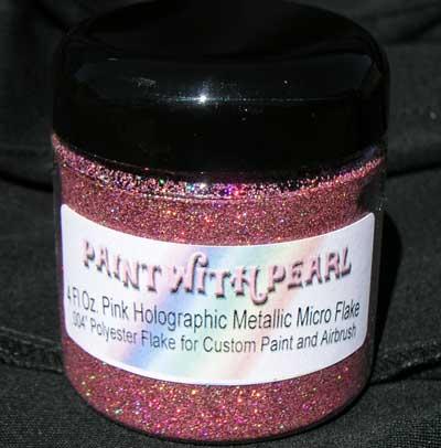 4 oz Jar Pink Holographic Metal Flake