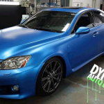 Driver View Sappire Blue Candy Pearls ® Audi Plasti dipped.