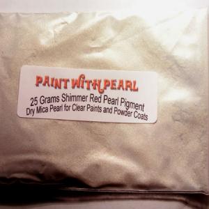 25 gram bag of Shimmer Red Ghost Pearl