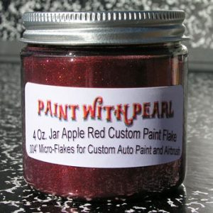 Apple Red Metal Flake for Paint
