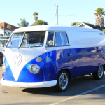 Royal Blue Candy Pearls ® VW Micro Bus Van.