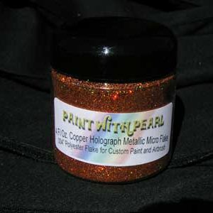 Orange Copper Holographic Metal Flake