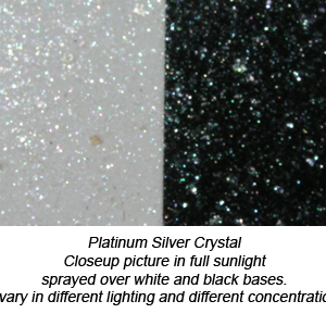 Swatch of Ice Crystal Silver Ghost Pearl