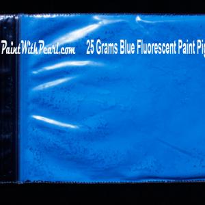 Blue Neon Glow Paint Pigment