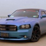 Queenz Dipped Charger in Chameleon Pearls Blue to Purple. Matte Finish Custom Paint job.