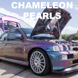 Chameleon Pearls in every multi-color option here. Works in paint, powder coat, even nail polish and shoe polish. Try our Chameleon Colors!