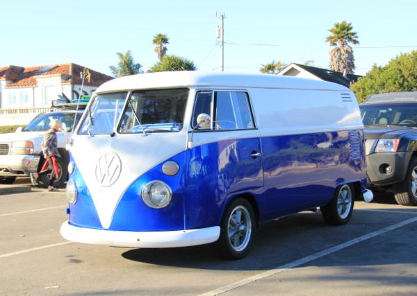 Royal Blue Candy Pearls ® VW Micro Bus Van.