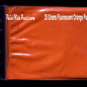 Orange Neon Glow Paint Pigment