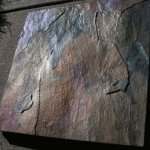 Abalone Shell - Mother of Pearl Effect created on Slate with IGhost Pearls ®.