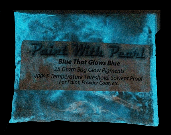 Blue glow in the dark Pigment can give you blue in the day, and blue Glow at night!