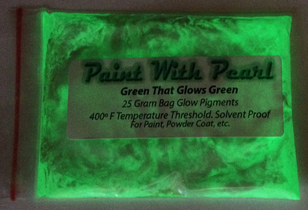 Glow in the Dark Pigments. Green glows green pigment for paint and other coatings.