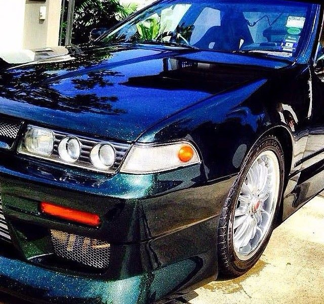 Nissan Cefiro with our Gold Green Blue Chameleon Pearls s.