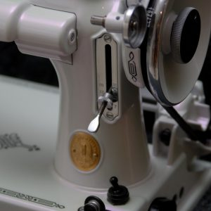 Violet Satin Ghost Pearl Close Up Sewing Machine