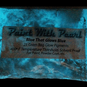 Blue to Blue Glow in the Dark Pigments - Long Lasting Glow
