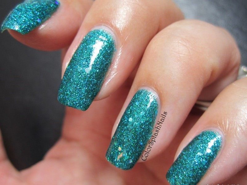 Custom made nail polish using our pigments and flakes