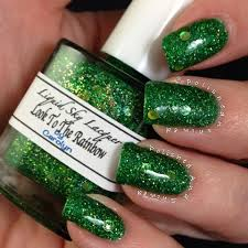 custom mixed nail polish using our pigments and metal flakes