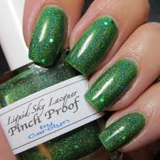 custom mixed nail polish using our pigments and flake