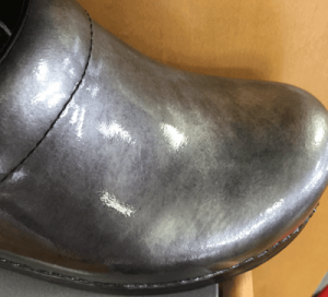 Using Our Pearls on Shoe Leather for a truly unique effect. Our Pearls can be used in both Paints and Polishes.