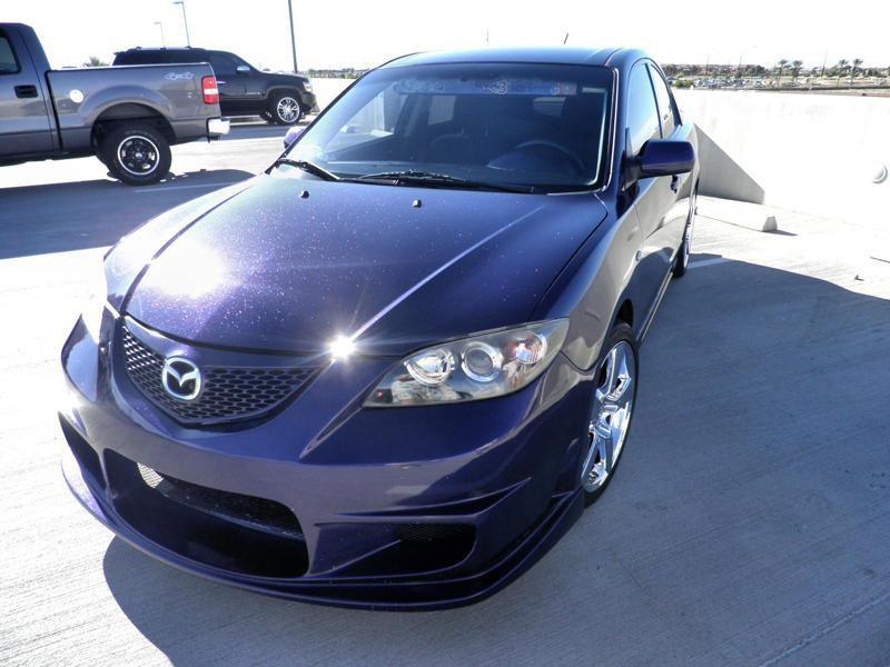 Mazda with Award winning purple metal flake paint job.