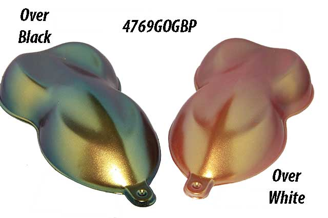 Gold Orange Green Blue Purple Chameleon Pearls for Custom Paint and Powder coatings.