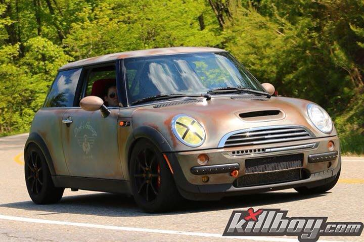 This is no rust bucket mini cooper. It is an effects paint that is getting lots of notoriety in the mini world.