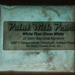 White to White Glow in the Dark Pigments - Long Lasting Glow