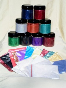 Pigment Sample Packs - Mini Pro Painter Pack 25 includes all types of Pearl Pigments and flakes.