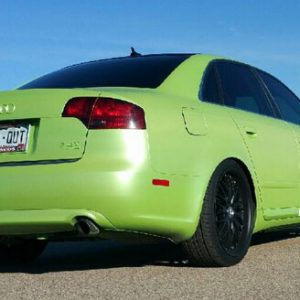 Lemon Lime Yellow Gold Flip Paint Chameleon Pearls  on Audi by Dynamic Auto Dip.