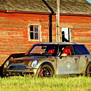 This is no rust bucket mini cooper. It is an effects paint that is getting lots of notoriety for home made DIY custom paint projects.