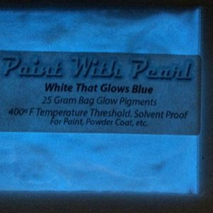 White to Blue Glow in the Dark Pigments - Long Lasting